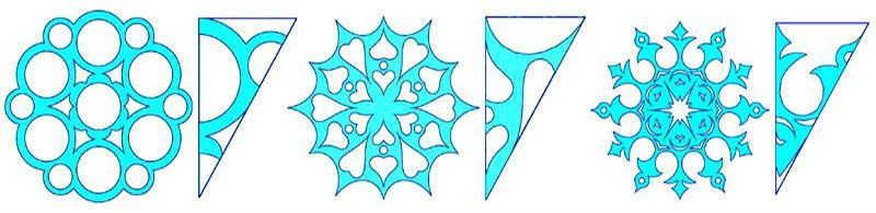 шаблоны для вырезания снежинки из бумаги