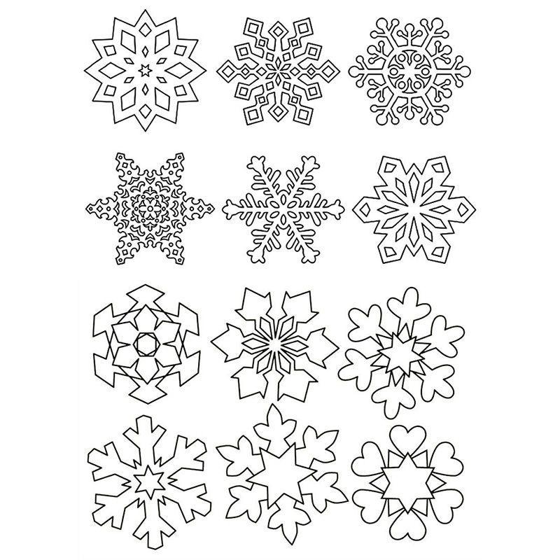снежинки на окна для распечатки