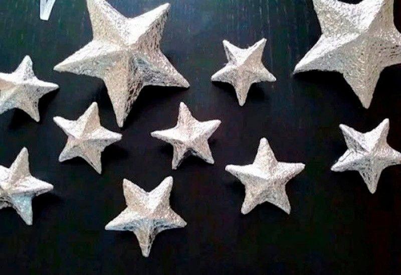 3D-звезда из картона