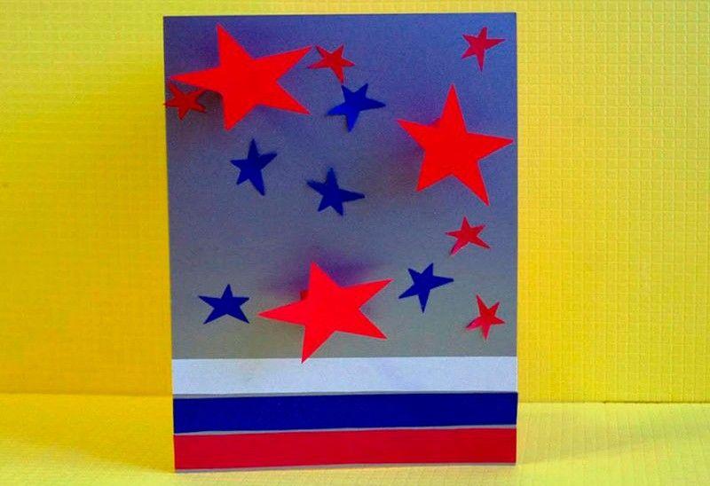 композиция из звезд и прямоугольников