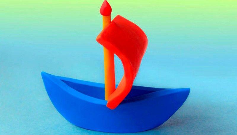корабль из пластилина