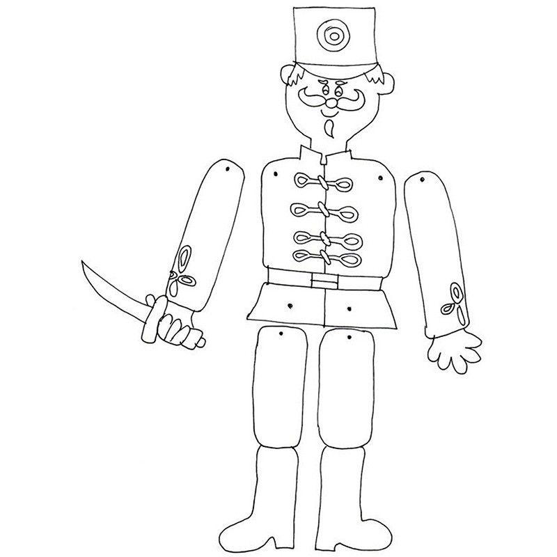 шаблон для бумажного солдата