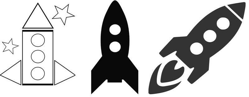 шаблоны ракет