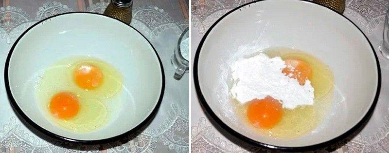 яйца и мука