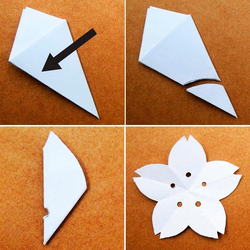 бумажный цветок сакуры