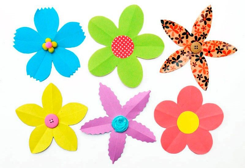 цветы из бумаги для оформления