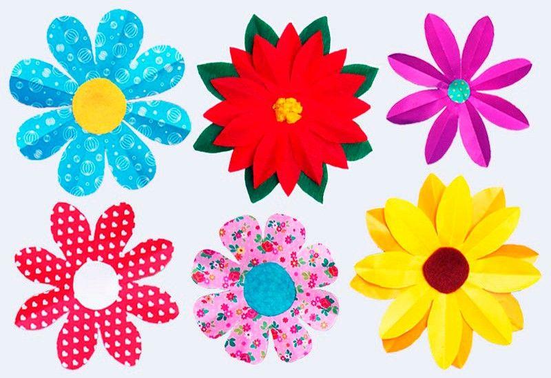 цветы из цветной бумаги
