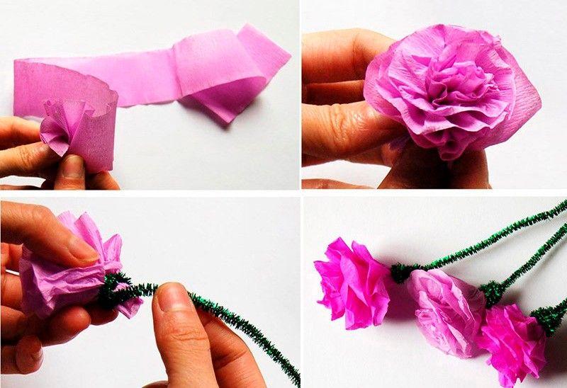 делаем бумажные розы
