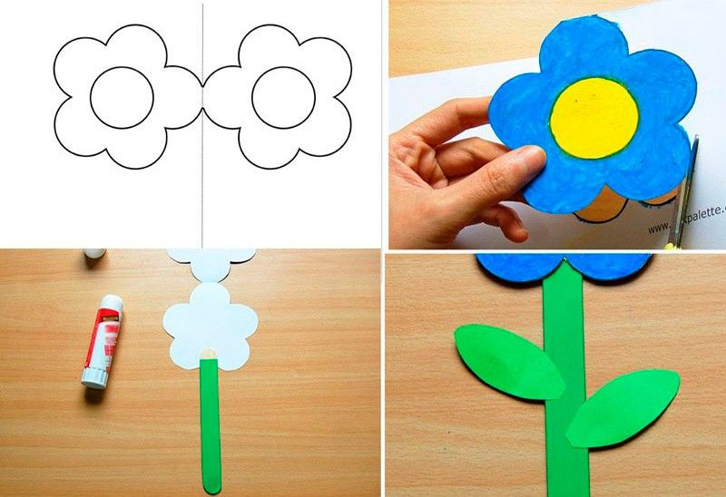 делаем цветы на 8 марта