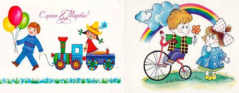 детские картинки с 8 марта