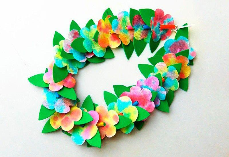 для декора цветы из бумаги