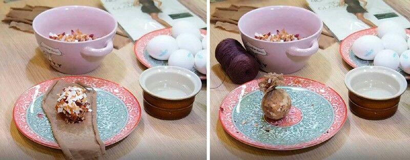 готовим мраморные яйца