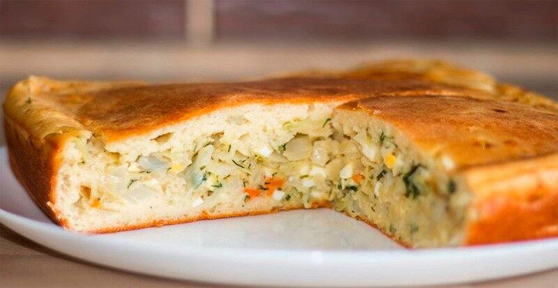 рецепт пирога на кефире с капустой
