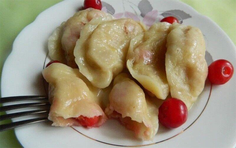 рецепт вареников с замороженной вишней